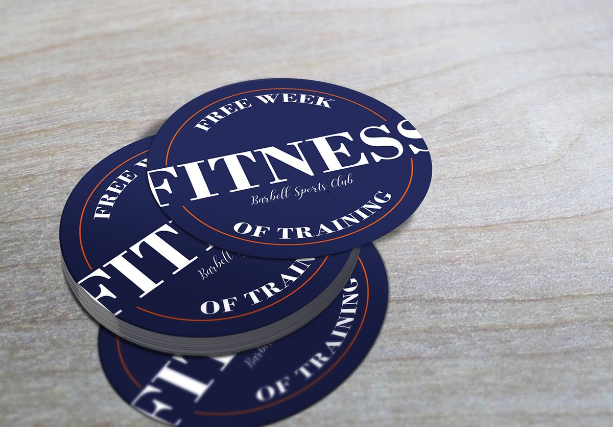 fitness business cards cypress - Circle Business Cards
